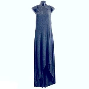 MASSIMO maxi dress Charcoal Heather asymmetrical